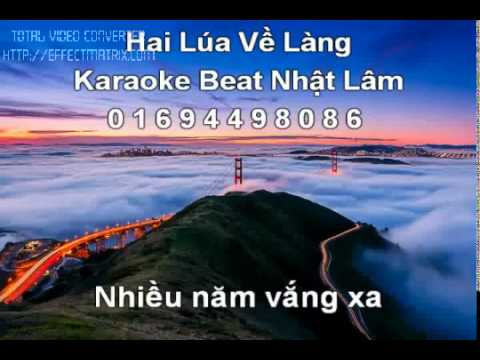 karaoke HAI LUA VE LANG