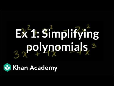 Simplify a polynomial