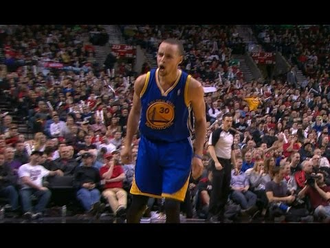 Stephen Curry Crosses Up Wesley Matthews and Drains a Three!