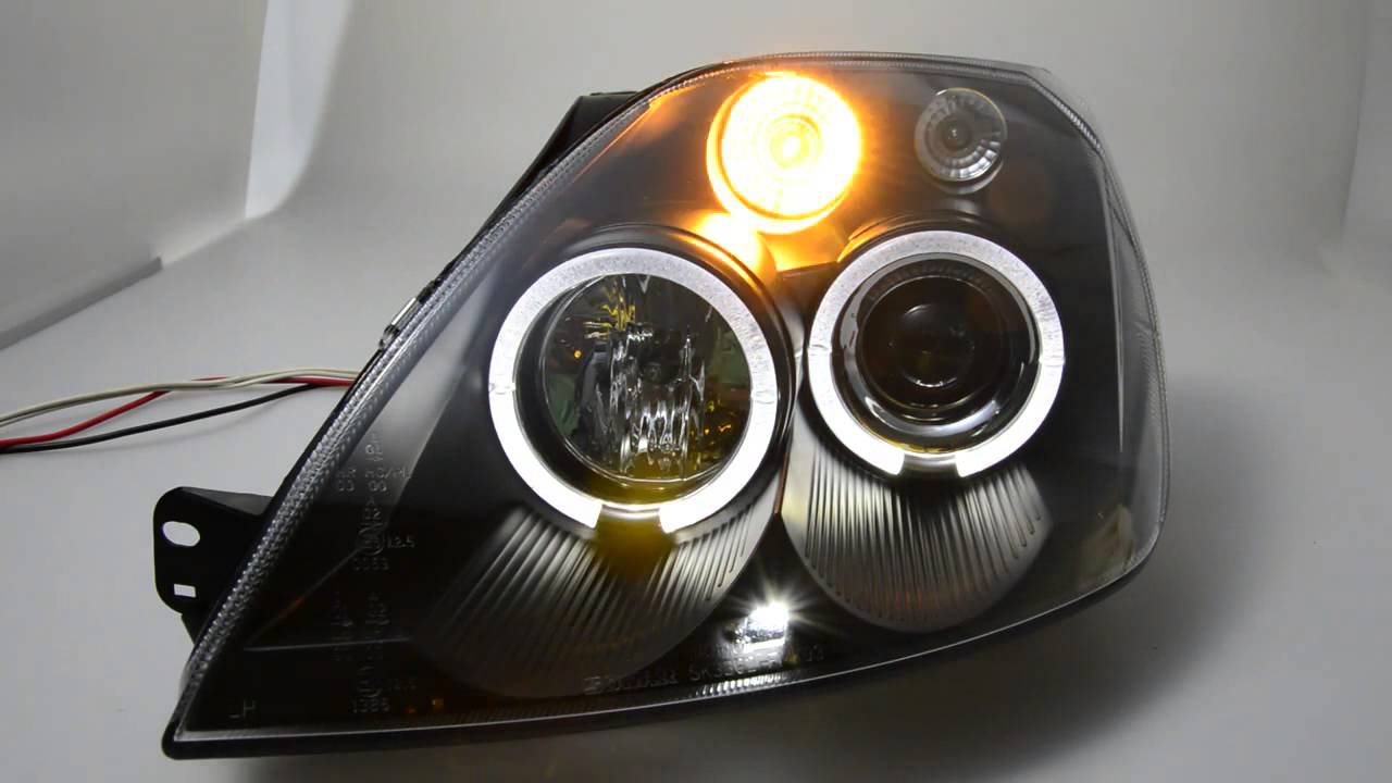 angel eye headlight for ford fiesta mk6 led helo rims. Black Bedroom Furniture Sets. Home Design Ideas