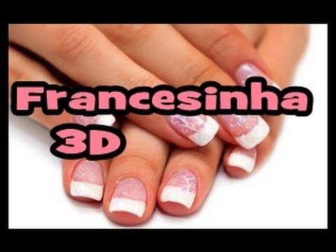 Aprenda francesinha 3D muito fácil SEGREDOS DE MANICURE)