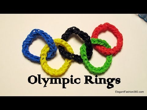 Olympic Ring Charm  - How to Rainbow Loom design - Sport Series