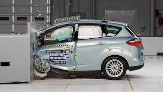 2014 Ford C-Max Hybrid Small Overlap IIHS Crash Test