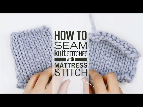 How to Seam Knit Stitches with Mattress Stitch