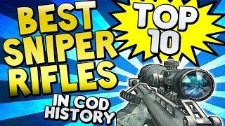 """""""BEST SNIPER RIFLES"""" In COD HISTORY (Top Ten Top 10"""