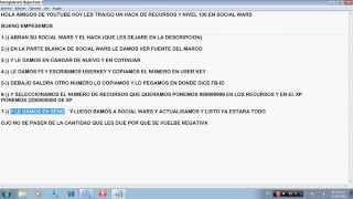 HACK DE RECURSOS Y NIVEL 100 EN SOCIAL WARS 2014