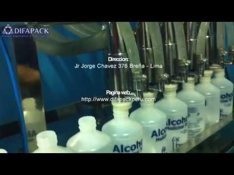Máquina envasadora dosificadora llenadora de alcohol