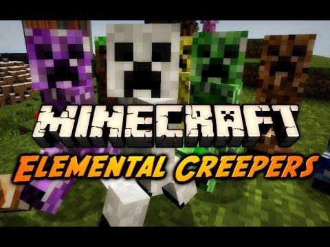Minecraft: Elemental Creepers Mod!