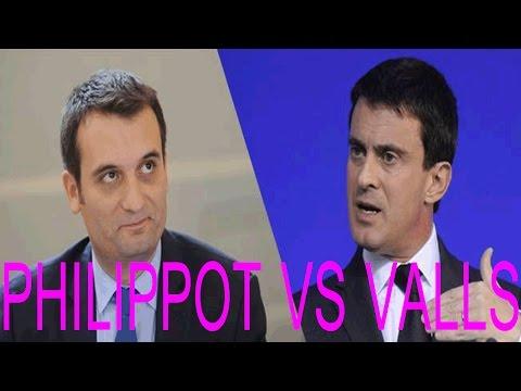 Affaire dieudonné - Florian Philippot clash violement Manuel Valls 06 02 14 quenelle asu zoa le mur