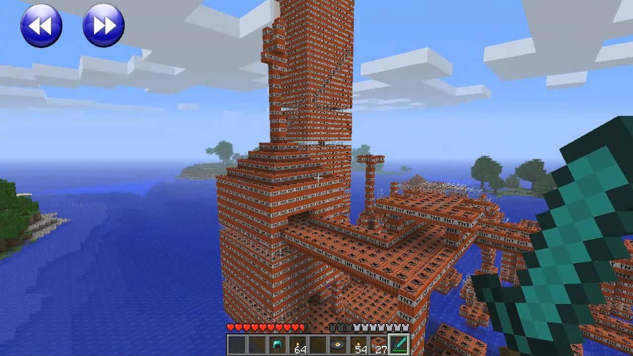 Minecraft tnt city explosion minecraft tnt explosion minecraft