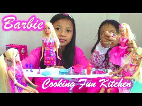 Barbie Cooking Fun Kitchen and Barbie Princess Dolls from Mattel - Barbie Doll Collection