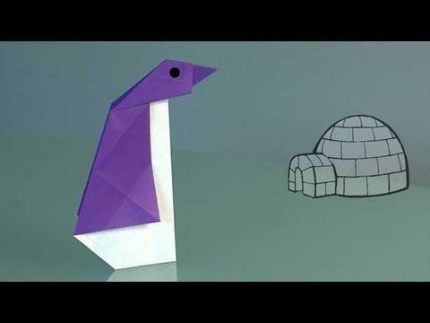 Como fazer um Pinguim de papel, origami