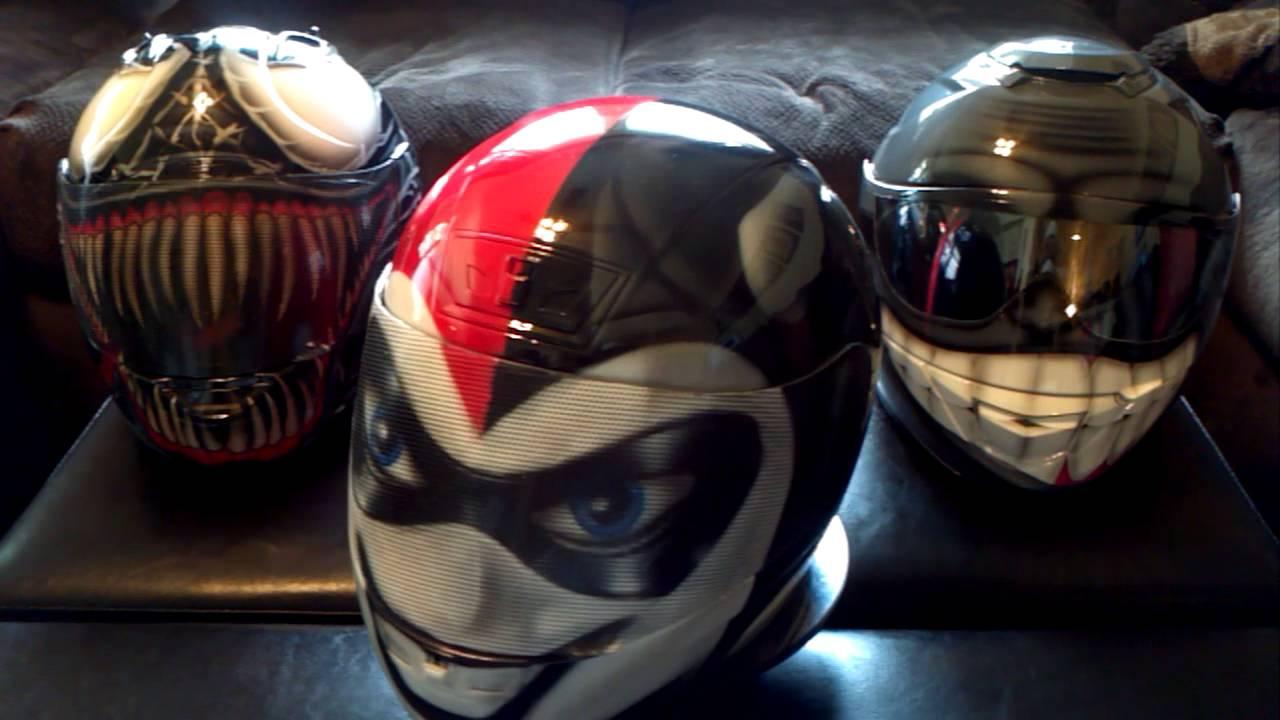 Harley Quinn Plus 2 More Custom Painted Helmets By