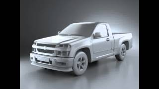 3D Model of Chevrolet Colorado Regular Cab 2012 videos