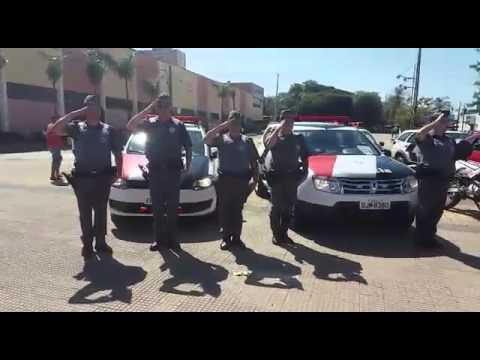 Vídeo PM de São Carlos presta homenagem a soldado de Araraquara morto durante assalto