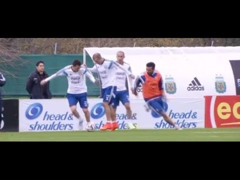 ¡Cómo corría Messi en el entrenamiento de Sabella!    Mundial 14    Argentina