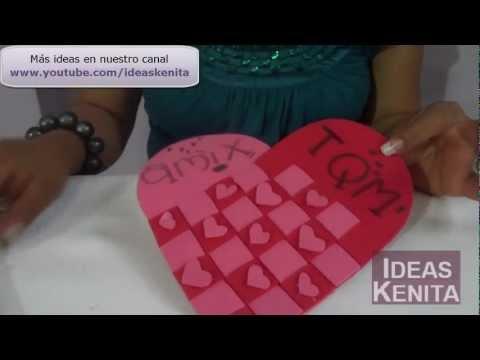 Manualidades en fomi para el 14 de febrero - Imagui
