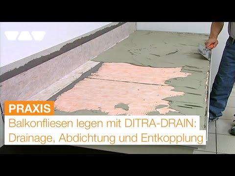 Balkonaufbau fliesen legen mit drainage abdichtung und entkopplung youtube - Dachterrasse fliesen aufbau ...