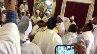 በሲያትል ደብረ ሰላም ቅዱስ ሚካኤል ቤተክርስቲያን የአቶ ታሪኩ እና የወ/ሮ አዲስ ዓለም የጋብቻ ስነ ሥርዐት Tariku's and Eseyte's Wedding