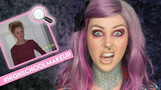 HOW I DID MY MAKEUP IN HIGH SCHOOL   KristenLeanneStyle