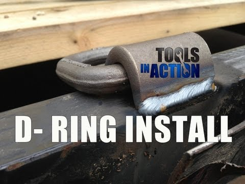 Welding D Rings on a Utility Trailer - Miller 211 Autoset , DeWALT generator and Hobart adapter