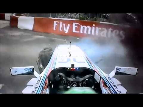 Accidente Felipe Massa y Sergio Perez F1 2014 Montreal - Part 2