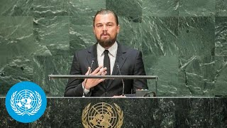 Leonardo DiCaprio Addresses the UN Climate Summit