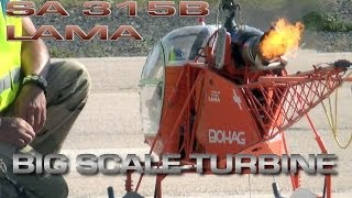 Big Scale Turbine Heli SA 315B Lama