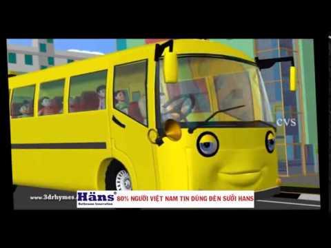 on the bus bài hát tiếng anh cho bé