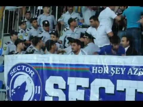 Neftchi Fans from Azerbaijan going Berserk!! (Sector 11 Ultras)