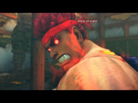Super Street Fighter IV AE PC Evil Ryu Playthrough + Secret Oni Boss fight 2/2