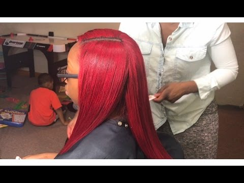 SEW-IN TUTORIAL (Brazilian bundle hair) from start to finish