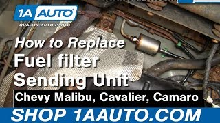 How To Install Replace Fuel Filter Chevy Malibu Cavalier
