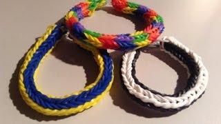 New Rainbow Loom Double Cross Fishtail Bracelet Round 4