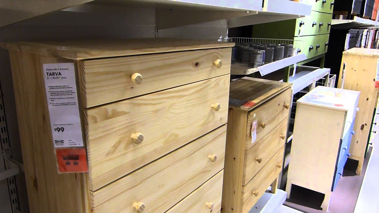Ikea Tarva Unfinished Relatively Solid Pine Furniture