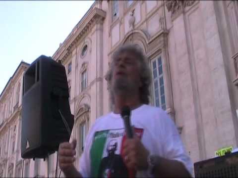 Beppe Grillo secondo discorso a Piazza Navona 10\9\2011