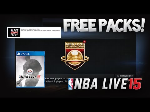 NBA Live 15 AWESOME Pre-Order Bonus! FREE PACKS!