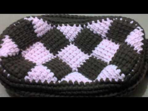 Crochet - Accessory Patterns - Handbags & Totes - Entrelac Bag