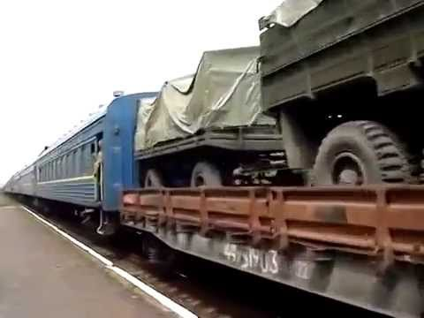 Kharkov oblast (19.05.2014) Tanks & Howitzers with Soldiers To Lugansk & Donetsk