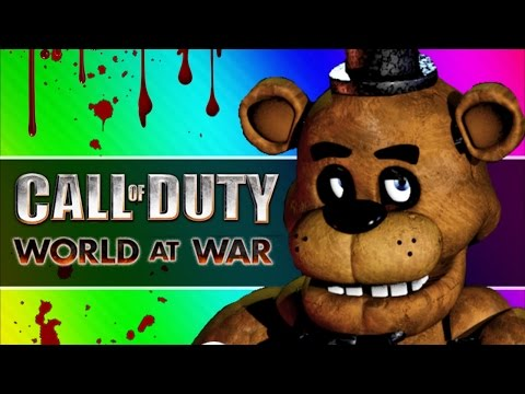 Five Fails at Freddy's (Call of Duty WaW Zombies Custom Maps, Mods, & Funny Moments)