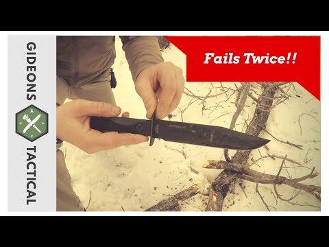FAILS TWICE!! Ka-Bar EK45 Model 5 Commando Knife