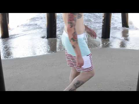 Tankfarm & Co. Malibu Blue Swim Trunks - Details