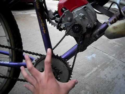 Homemade 33CC Gas/Motorized Bicycle - YouTube
