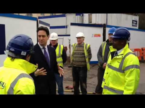 Labour Leader Ed Miliband Outlines Housing Plans On Stevenage Visit