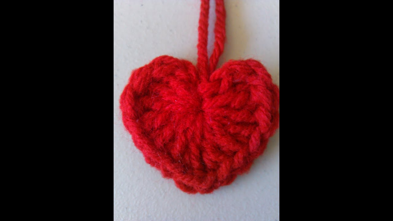 Youtubecroche : Crochet heart style 1 - YouTube