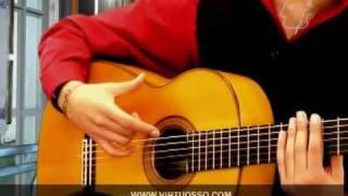 Técnicas de guitarra flamenca: Rasgueo de abanico