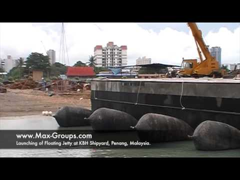 Floating Jetty Launched using MAX Marine Airbags