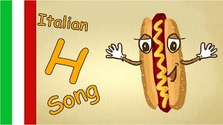 """ABC Song. Learn italian for kids - """"letter H Song"""" - learn how to pronounce Italian letters"""