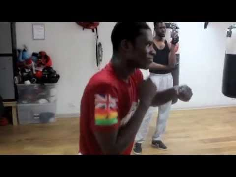 GHANIAN KO SPECIALIST - RICHARD COMMEY SHADOW BOXING @ PRO SW GYM, LOUGHTON 17 - 0 WITH 17 KO' S