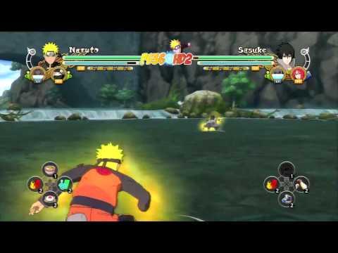 Naruto Storm 3: 2 Battles Direct Feed Gameplay